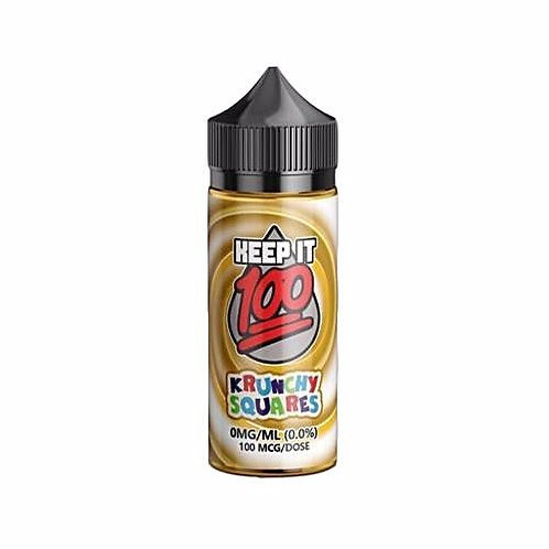 Krunchy Squares by Keep it 100 E Liquid 100ml Shortfill