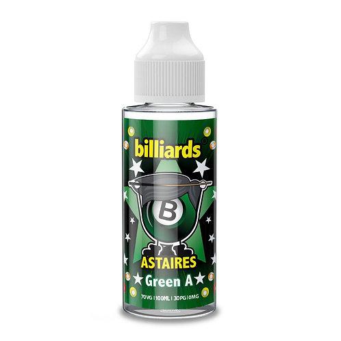 Green A Astaires by Billiards E Liquid 120ml Shortfill