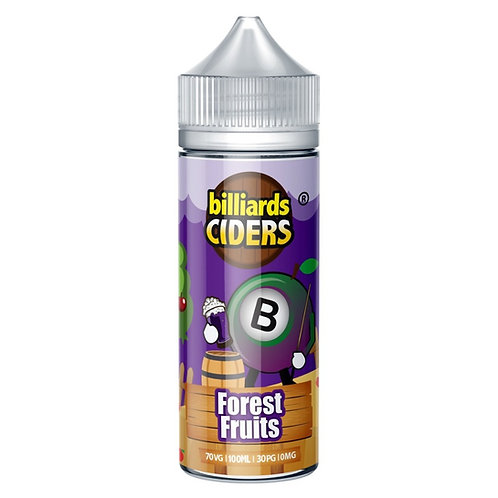 Forest Fruits Ciders by Billiards E Liquid 120ml Shortfill