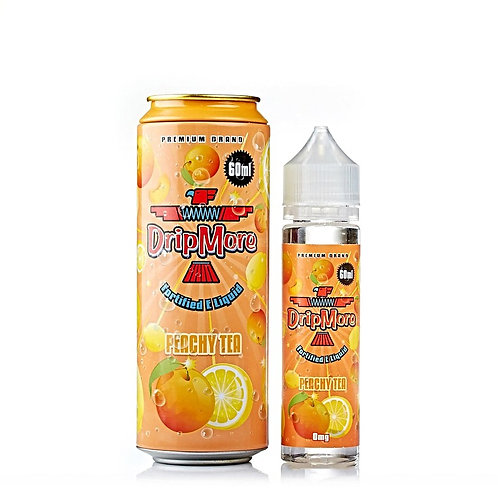 Peachy Tea by Drip More E Liquid 60ml Shortfill