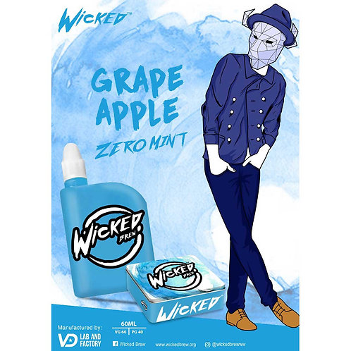 Grape Apple by Wicked Brew E Liquid 60ml Shortfill