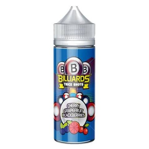 Cherry Grapefruit Blackberries Trick Shots by Billiards E Liquid 120ml Shortfill