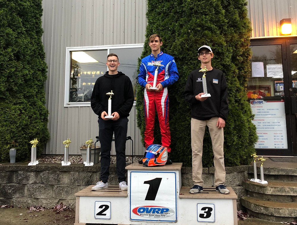 podium with max and dylan