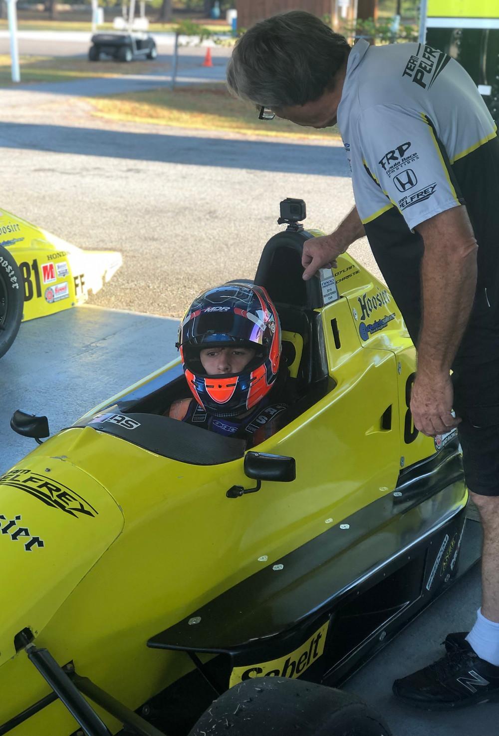 Dylan Christie first test with Team Pelfrey