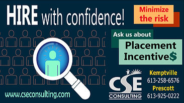 """Employers can ask CSE Consulting about """"Placement Incentives."""""""