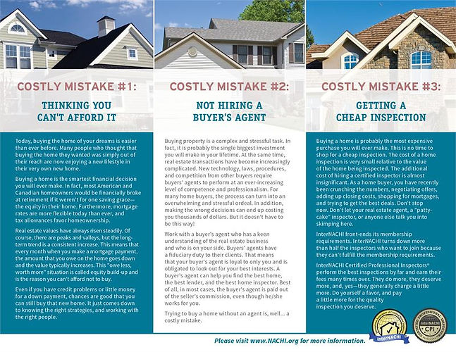 Costly Mistakes for Homebuyers