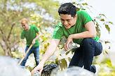 Men Volunteering