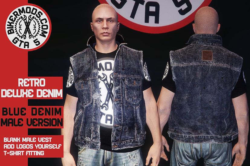Retro Deluxe Denim Vest (Blue Denim)