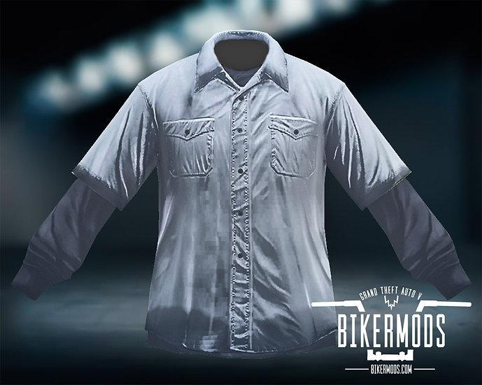 White Flannel Black Shirt Combo