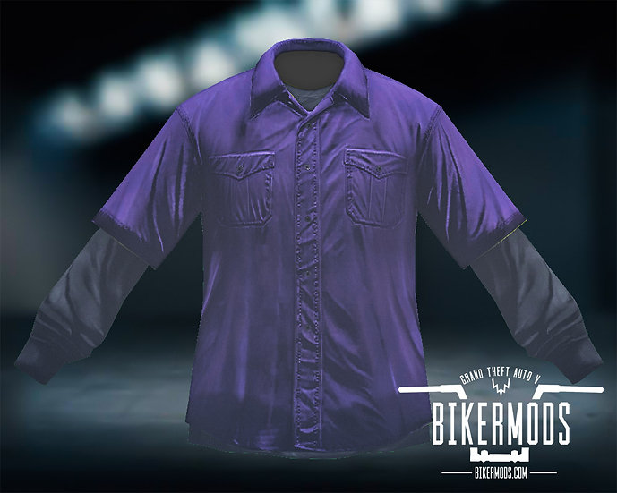 Purple Flannel Black Shirt Combo