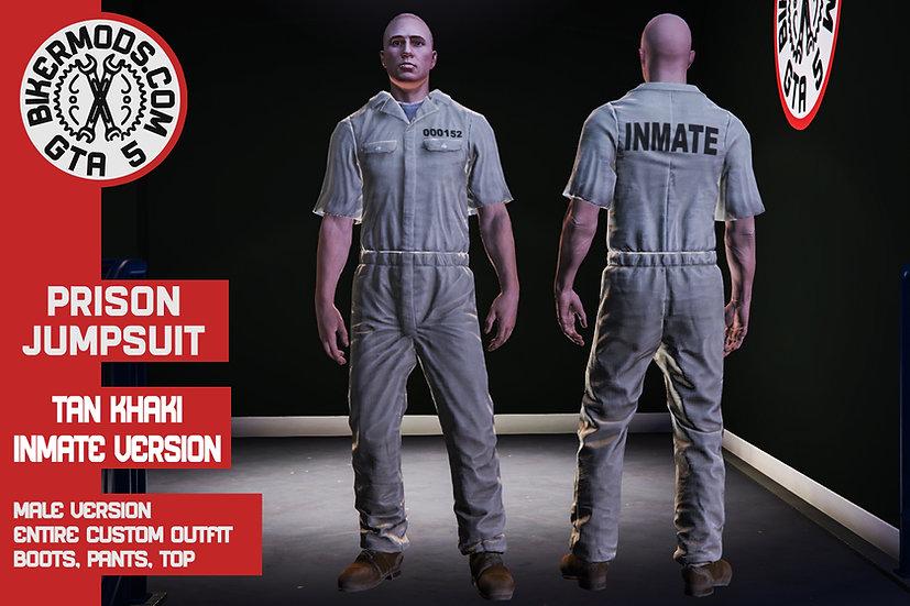 Prison Jumpsuit (Modern Khaki Inmate)
