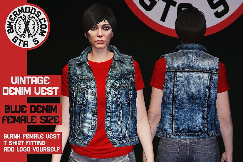 Vintage Denim Vest (Blue Denim) Female