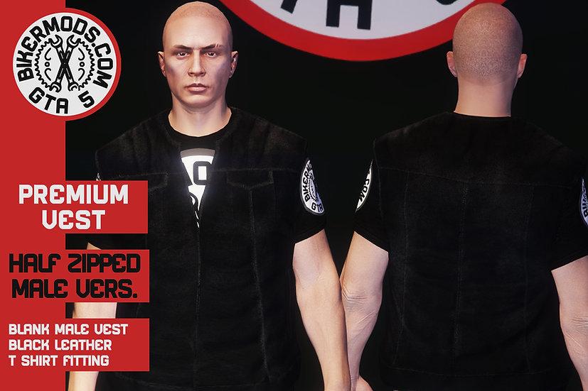 Premium Vest (Male) Half Zipped
