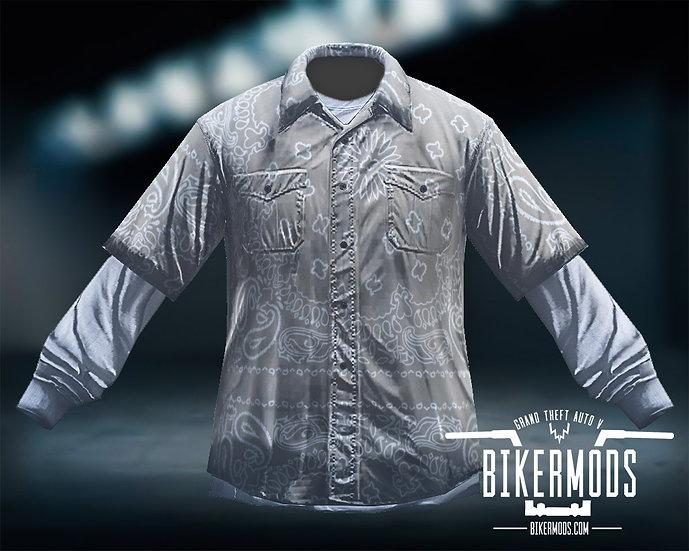 Tan Bandana Flannel White Shirt Combo