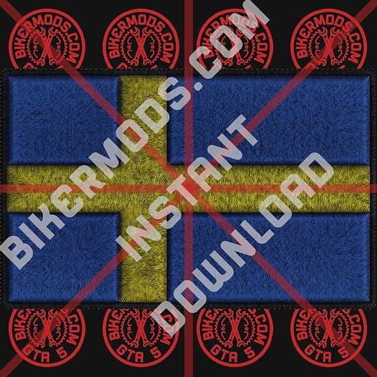 Sweden Flag HD Emblem (Instant Download)