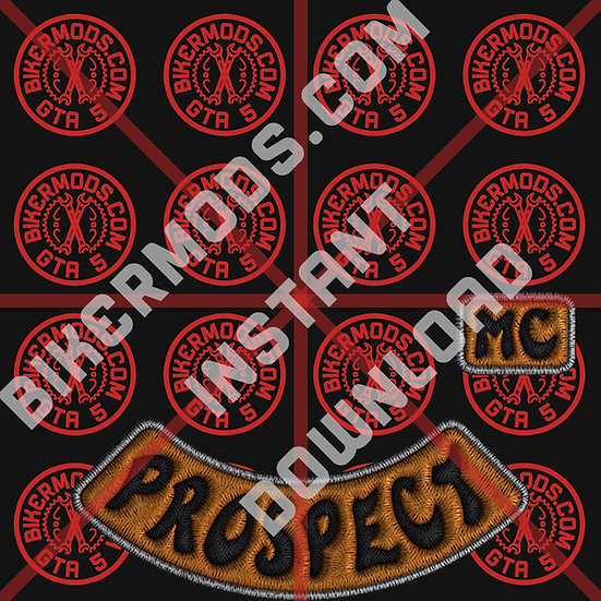 Grim Bastards MC Prospect HD Emblem (Instant Download)