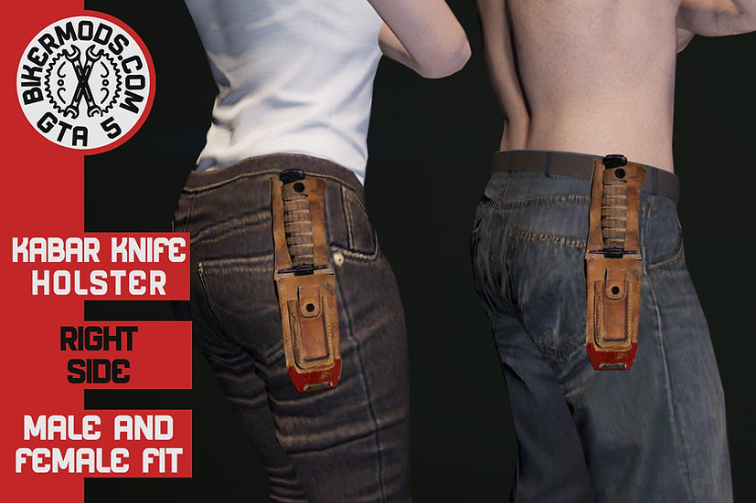 Kabar Knife Holster (Right Side) Fits Males & Females