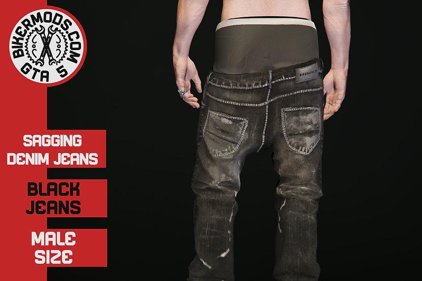 Sagging Denim Jeans
