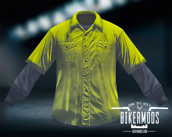 Yellow Flannel Black Shirt Combo