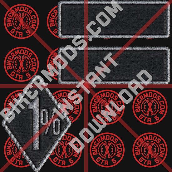 Blank Black Patch Set W/ 1% Diamond (Instant Download)