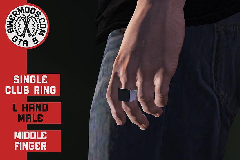 Singe Club Ring (L Hand) Middle Finger