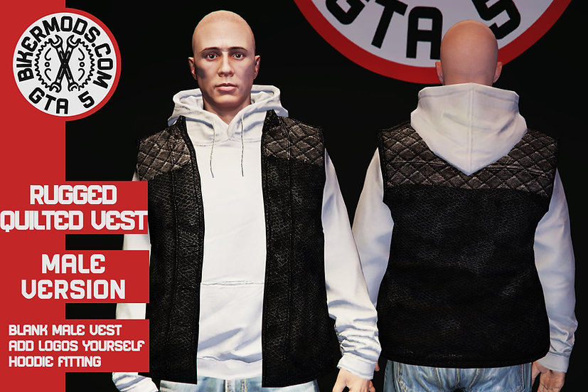Rugged Quilted Vest (Fit for Hoodies)