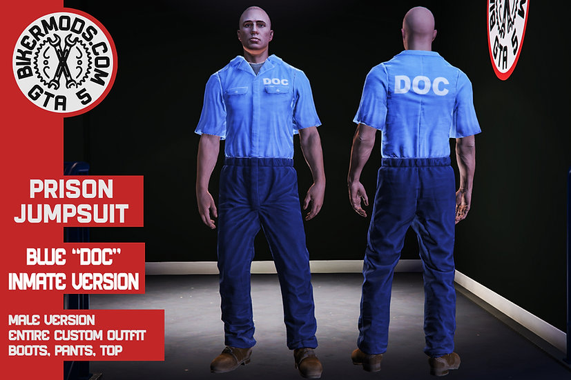 Prison Jumpsuit (DOC Blue)
