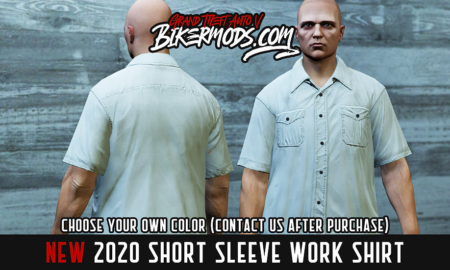 Short Sleeve Work Shirt (compatible with in-game flannel textures)