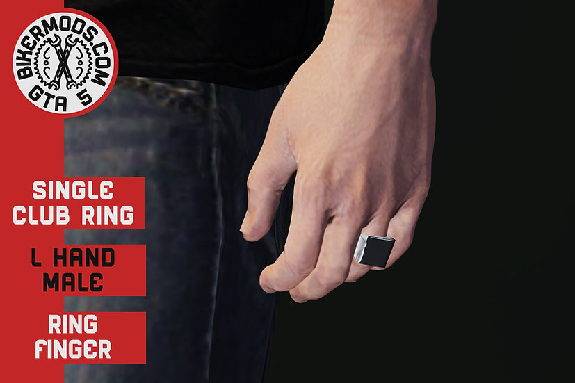 Singe Club Ring (L Hand) Ring Finger