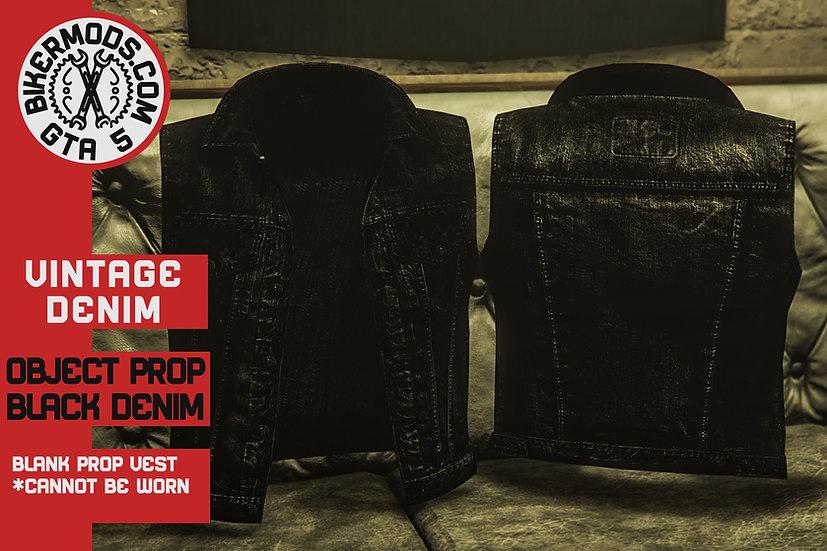 Vintage Denim Vest (Black Denim) Prop Model