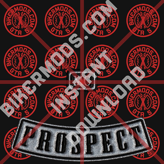 Lost MC Prospect Emblem (White Base / Black Text) Instant Download