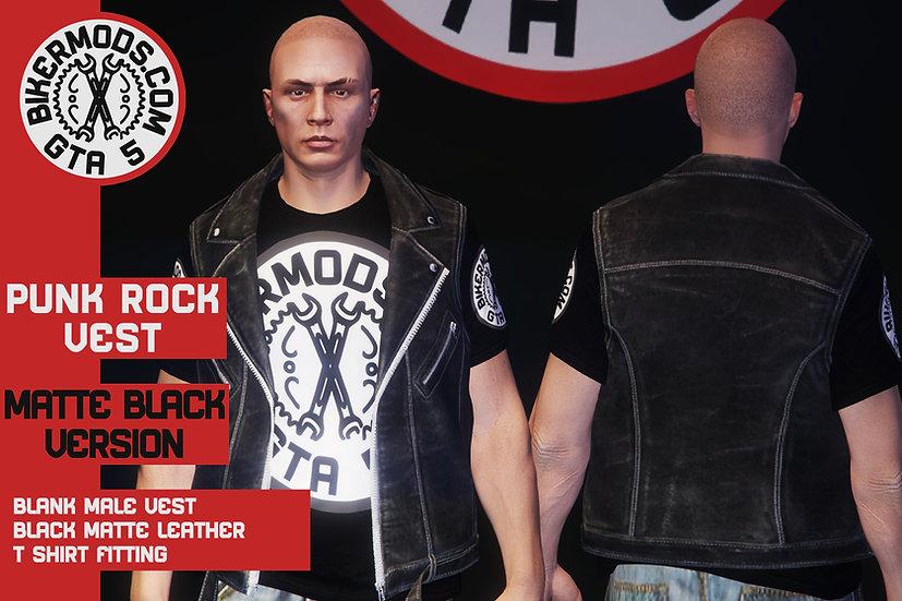 Punk Rock Vest (Matte Leather)