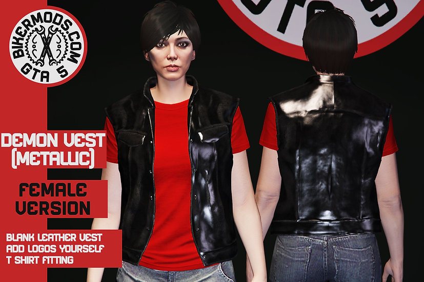 Demon Vest (Metallic Leather) Female