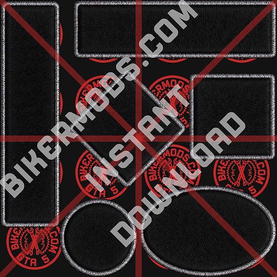 Blank Shapes Patch Set (Black / White)