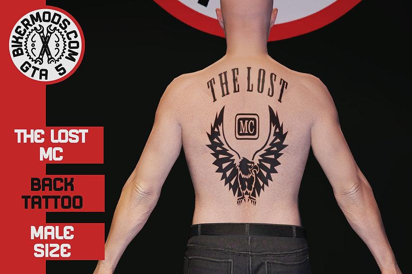 Lost MC Back Tattoo