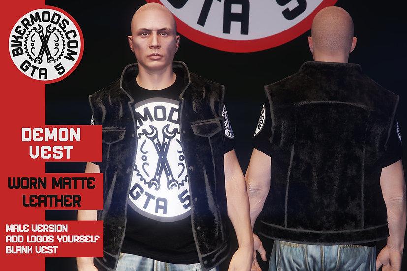 Demon Vest (Worn Matte Leather)