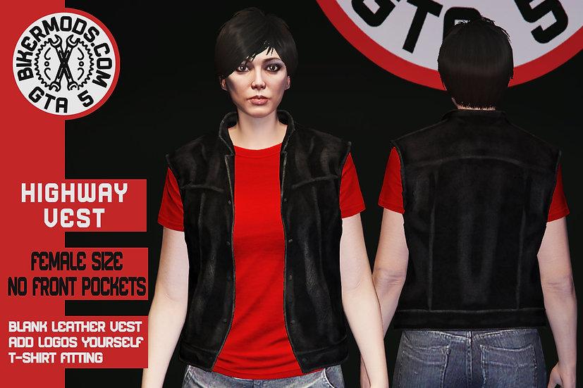 Highway Vest (Female) No Pockets Version