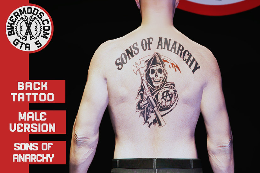 Sons of Anarchy MC Back Tattoo