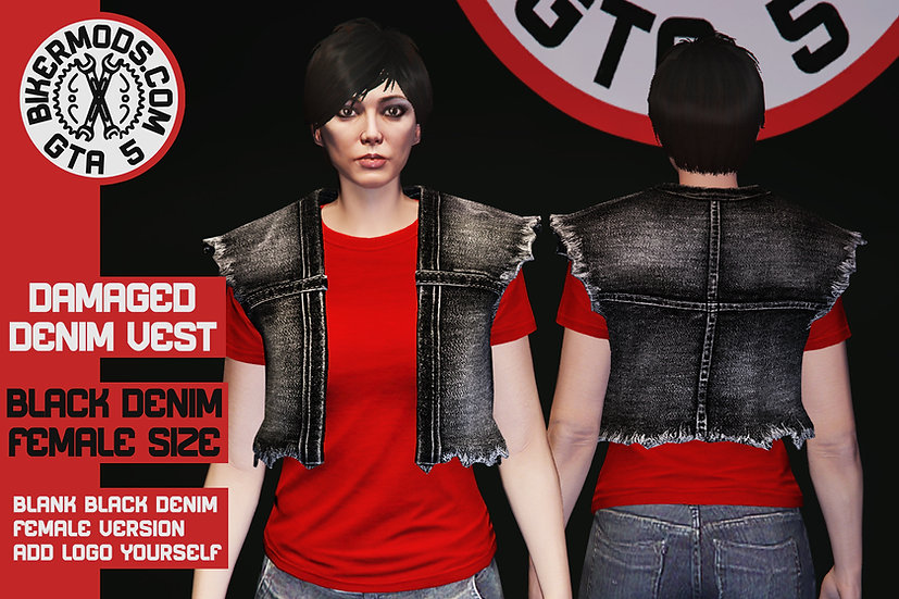 Damaged Denim Vest (Female)