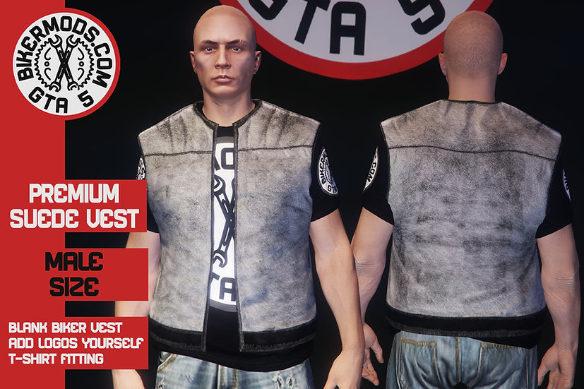 Premium Suede Vest (White)
