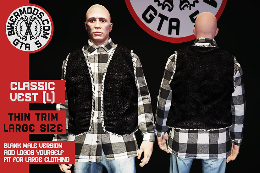 Classic Thin Trim Vest (Large Size)