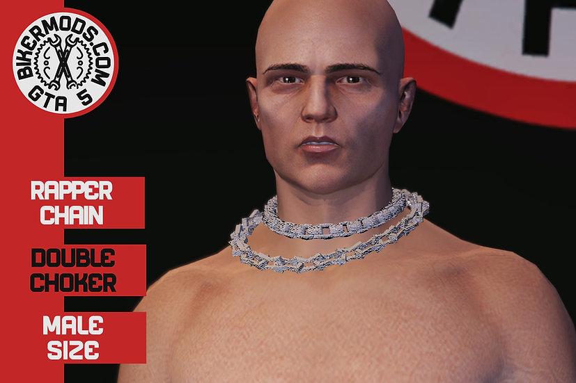 Rapper Double Choker Chain