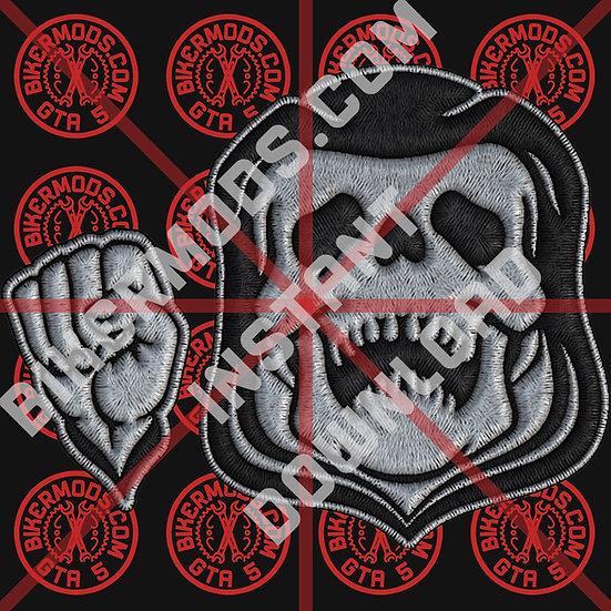 Grim Reaper and Fist HD Emblem (Grim Bastards MC) Instant Download