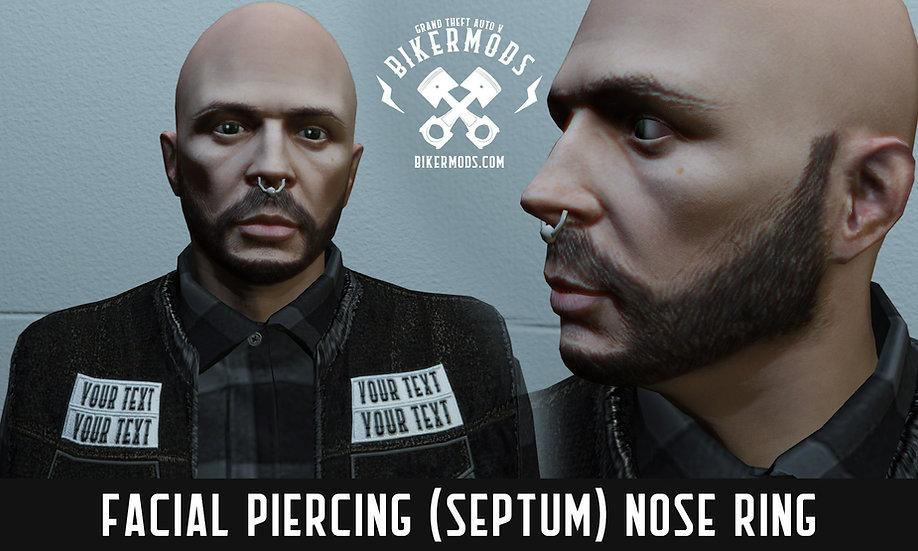 Facial Piercing (Septum) Nose Ring
