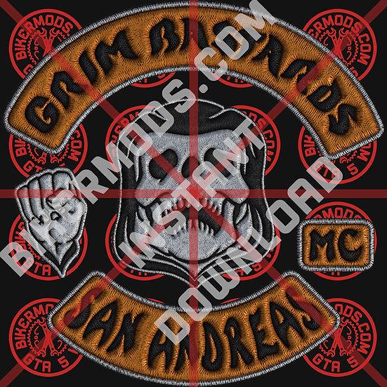 Grim Bastards MC San Andreas HD Emblem (Instant Download)