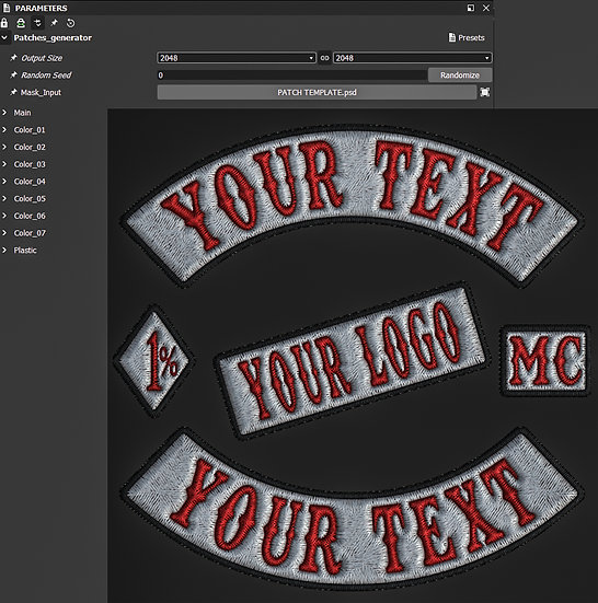 NEW Embroidery Patch Plugin Template (NEW VERSION)