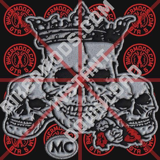 Skulls Center Emblem (Calaveras)