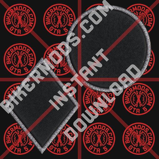 Diamond / Circle Blank Flash Set (Black) Instant Download