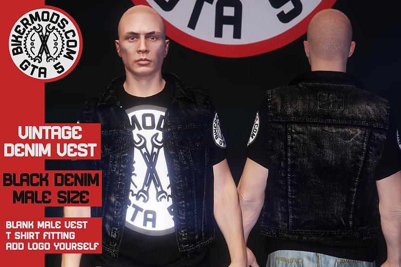 Vintage Denim Vest (Black Denim)