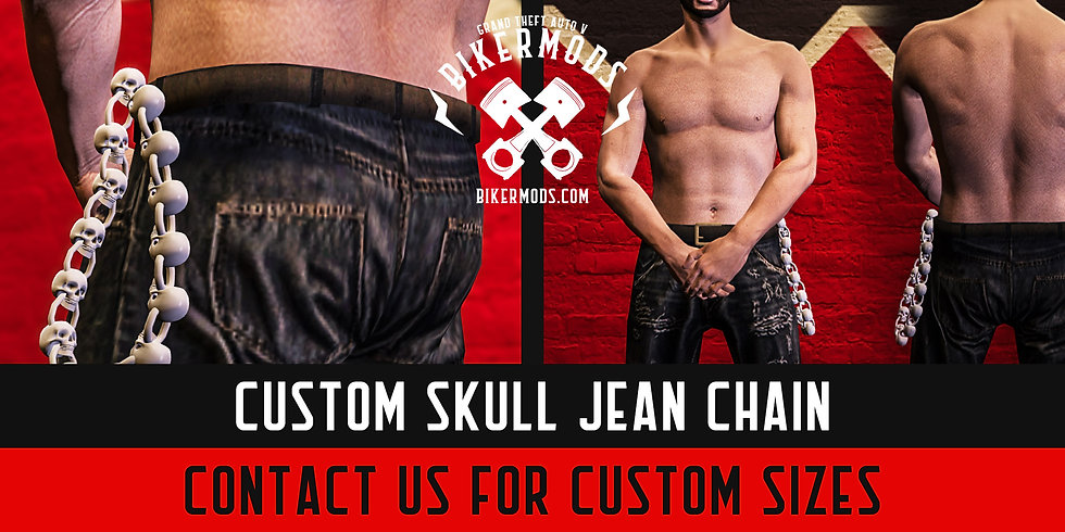 Custom Skull Jean Chain
